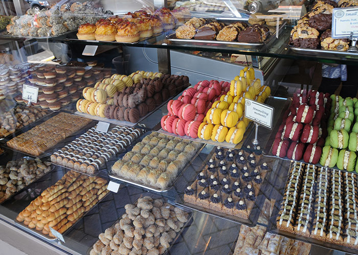 Nikos cakes baklava window