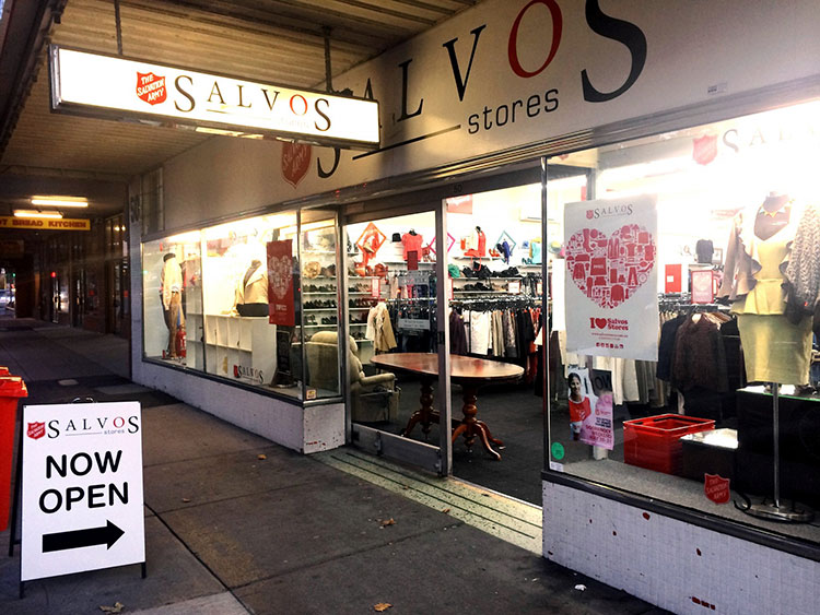 The Salvos Store in Oakleigh.