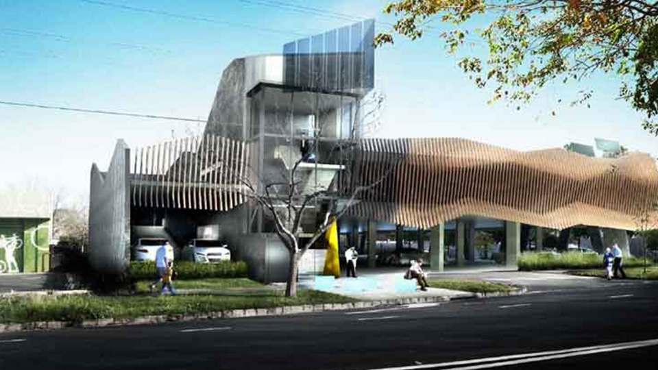 Proposal for a multi-level carpark in Atkinson St, Oakleigh.