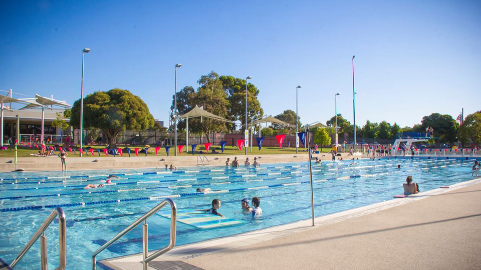 Outdoor pool at Oakleigh Recreation Centre.