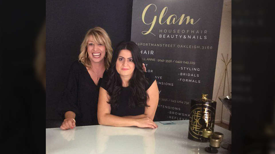 Annie Tigas of Glam House of Hair in Oakleigh.