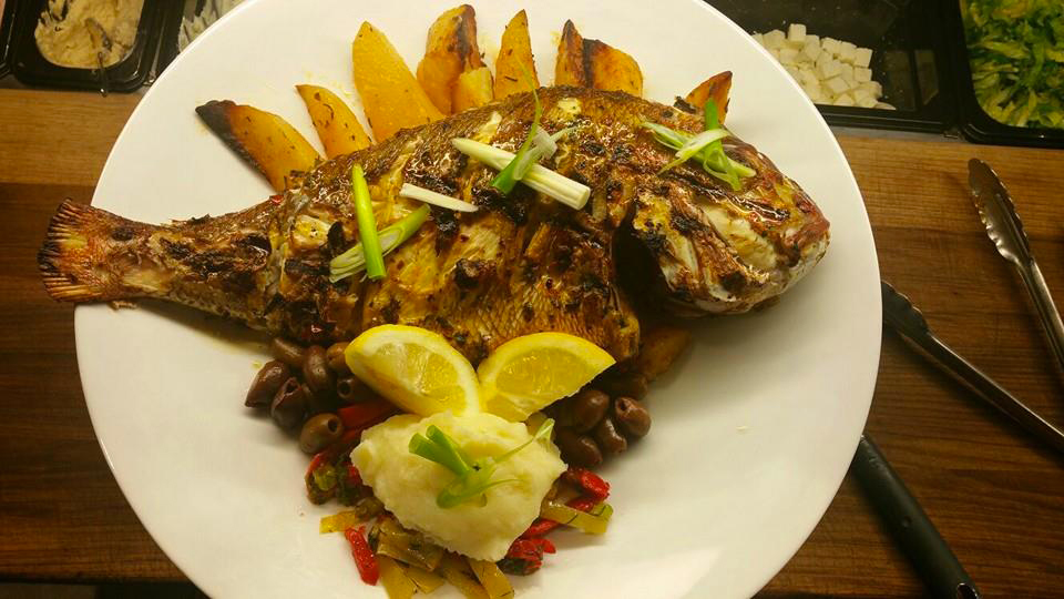 Chargrilled snapper from Euro Bites Greek Eatery