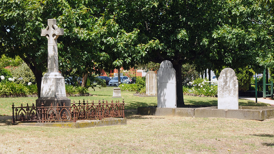 Grave stones at Oakleigh Memorial Park